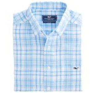 Vineyard Vines Shirt Men's Button Front Linen Long